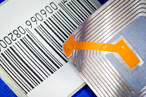 Asset tracking labels and RFID chip for metals manufacturing