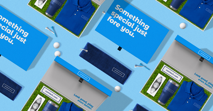 golf themed sales kit